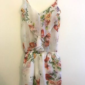 Seduction floral sheer romper
